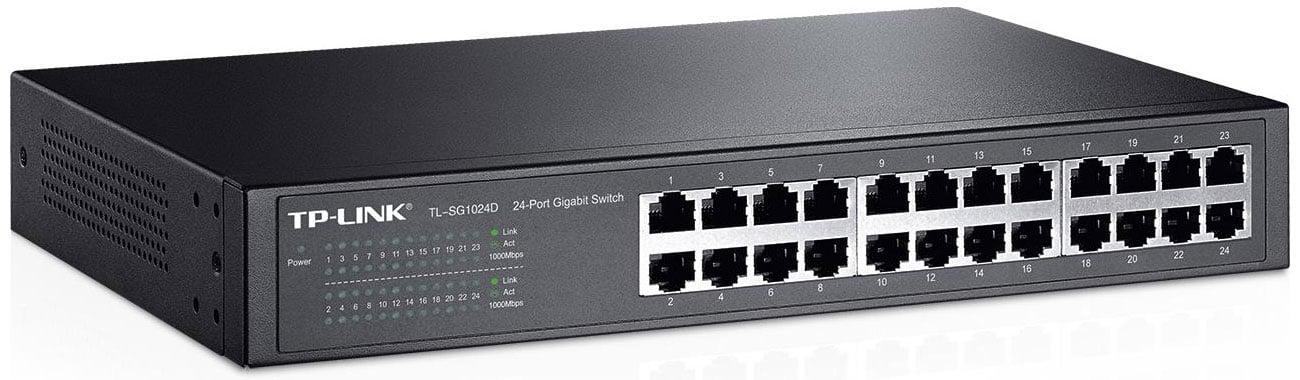 TP-Link 24p TL-SG1024D Rack 13 Prosta obsługa