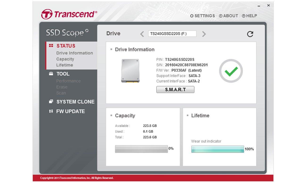 Dysk SSD Transcend 370 SSD Scope