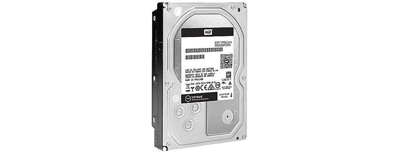 Dysk HDD WD 4TB 7200obr. 256MB BLACK WD4005FZBX Technologie,wydajność