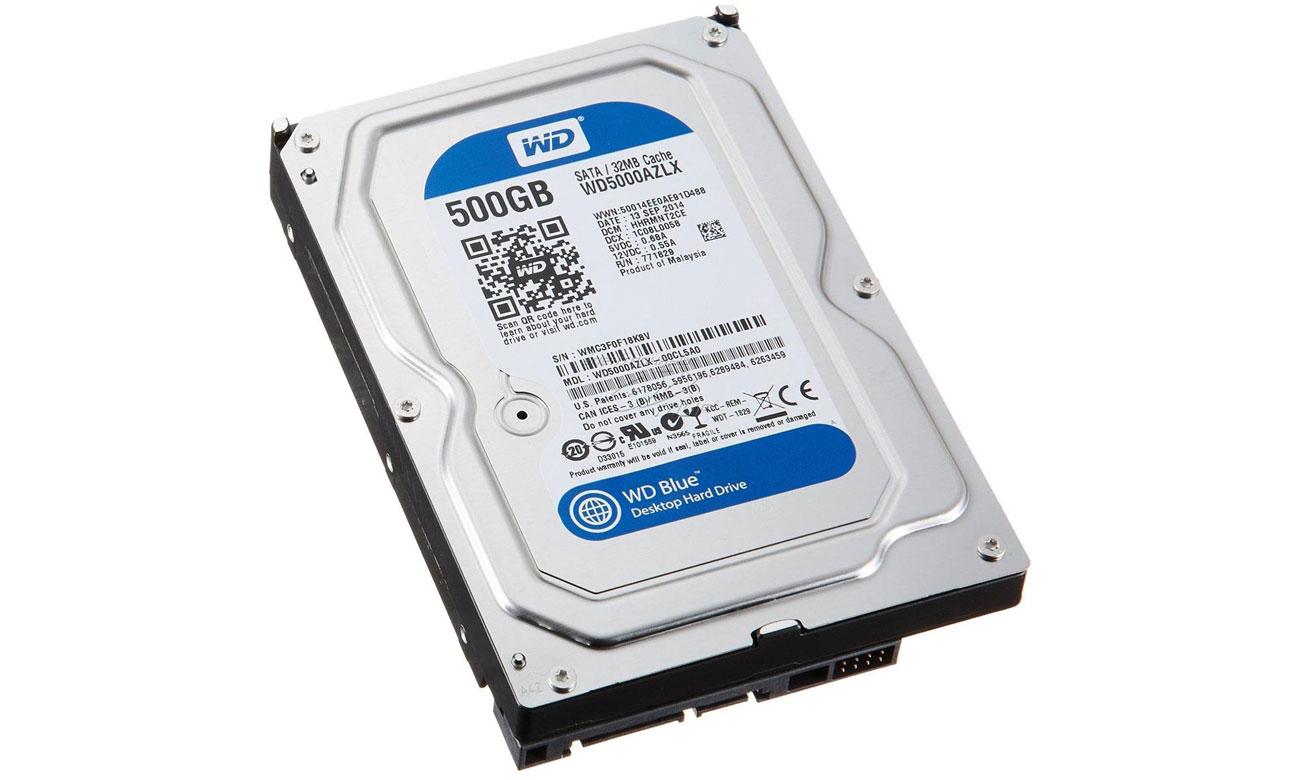 Dysk HDD WD 500GB 7200obr. 32MB Blue WD5000AZLX