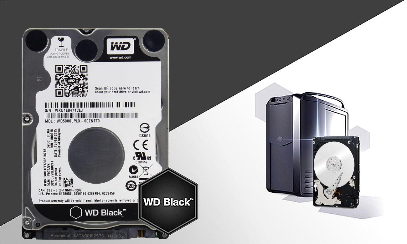 Dysk HDD WD BLACK pojemność
