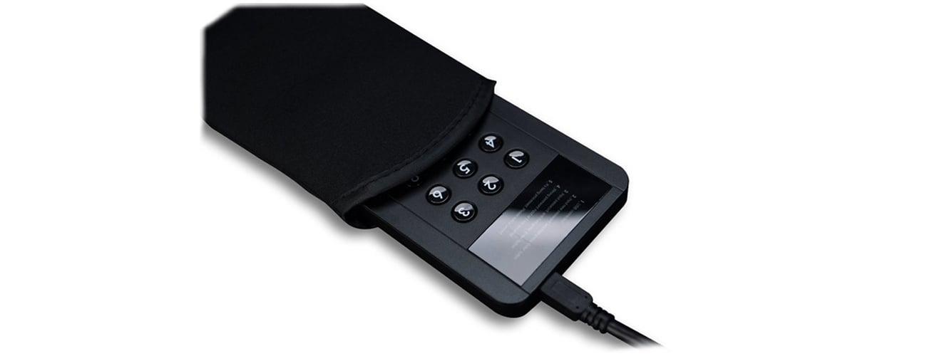 Obudowa dysku 2,5 Zalman ZM-SHE350 USB 3.0 szyfrowanie czarna