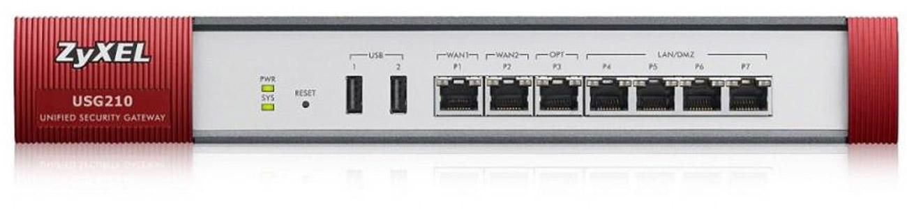 Firewall Zyxel USG210 System antywirusowy Kaspersky SafeStream II