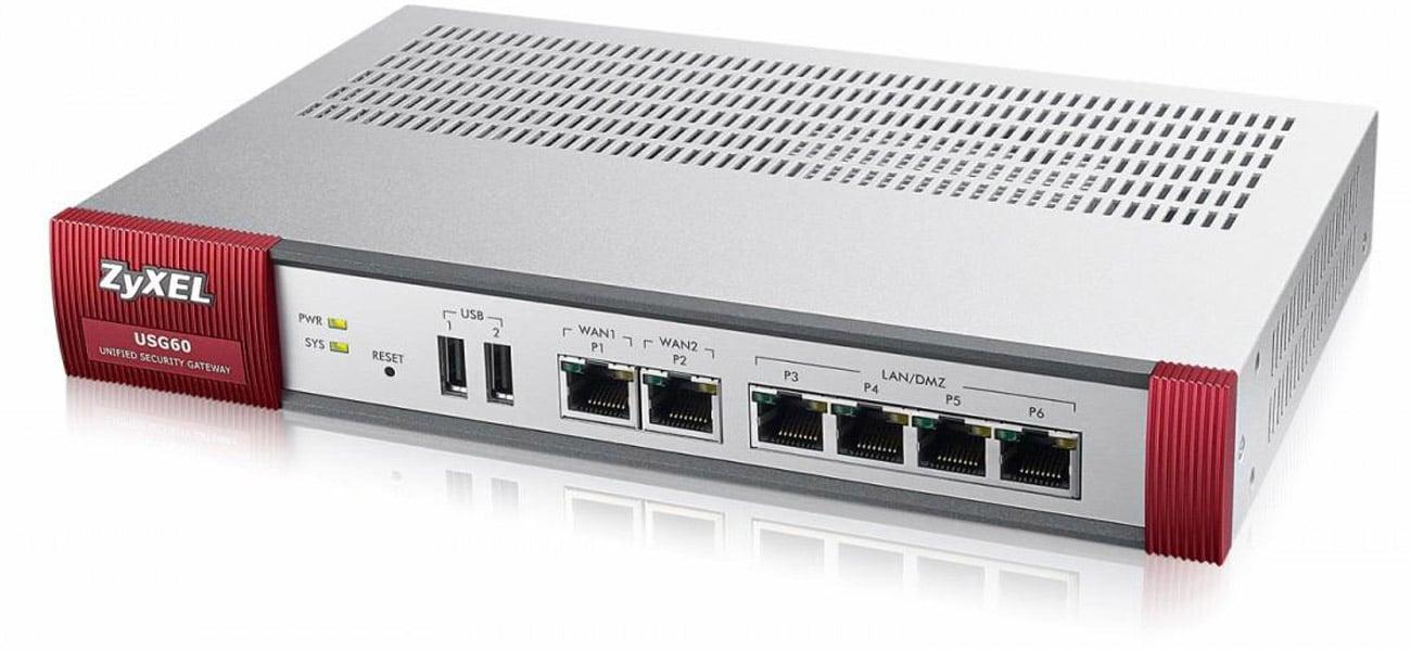 Firewall Zyxel USG60 (4x100/1000Mbit 2xWAN) AV Bundle