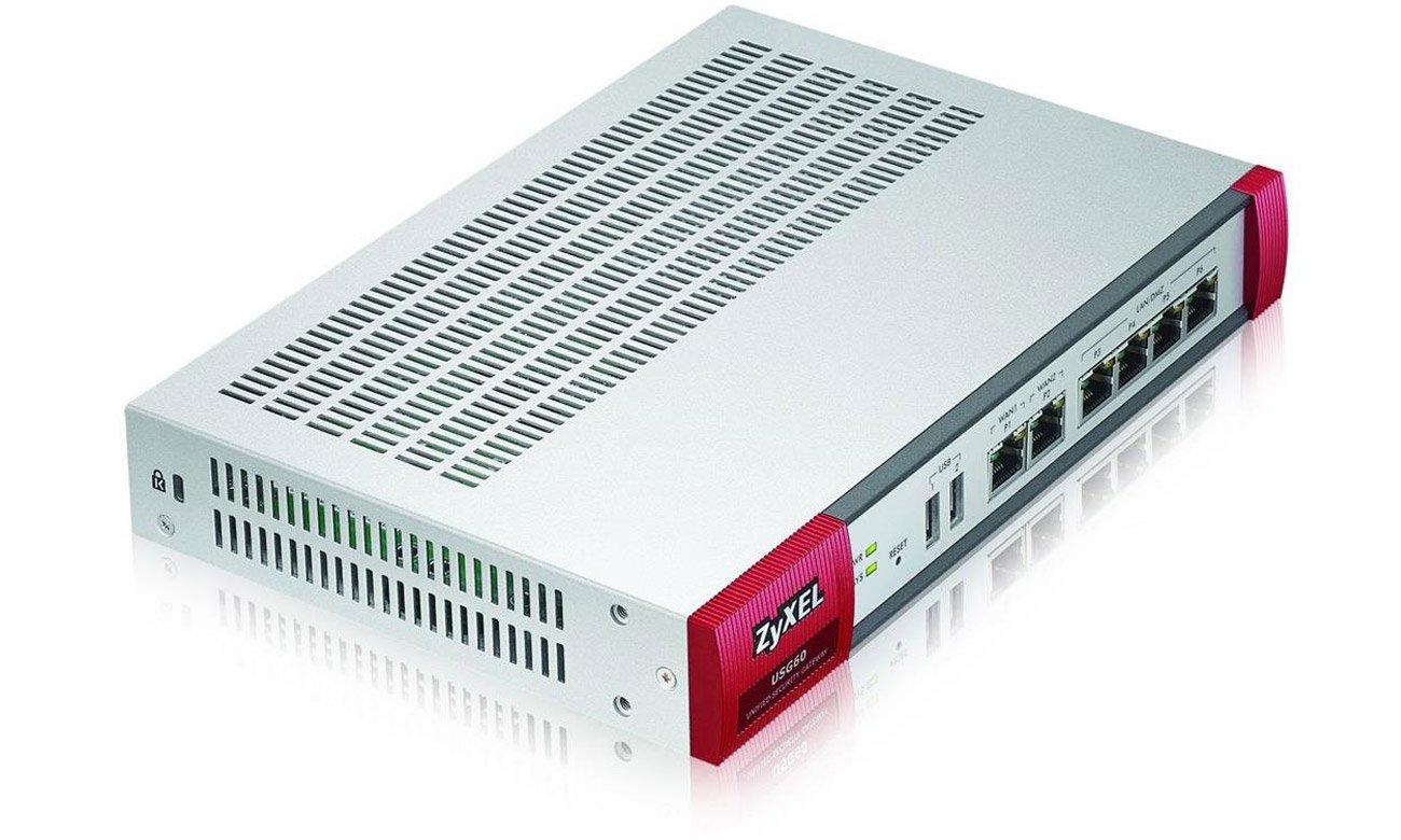 Firewall Zyxel USG60 (4x100/1000Mbit 2xWAN) AV Bundle Bezpieczna łączność