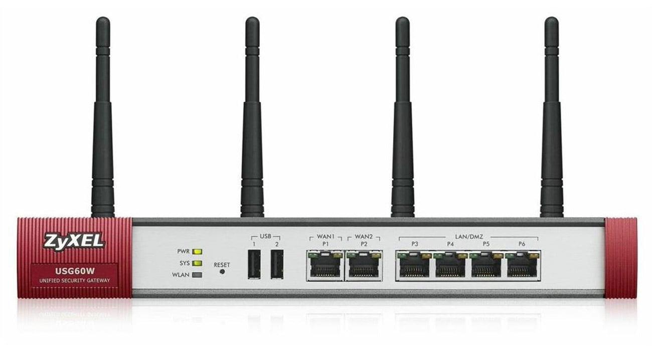 Firewall Zyxel USG60W WiFi (4x100/1000Mbit 2xWAN) AV Bundle