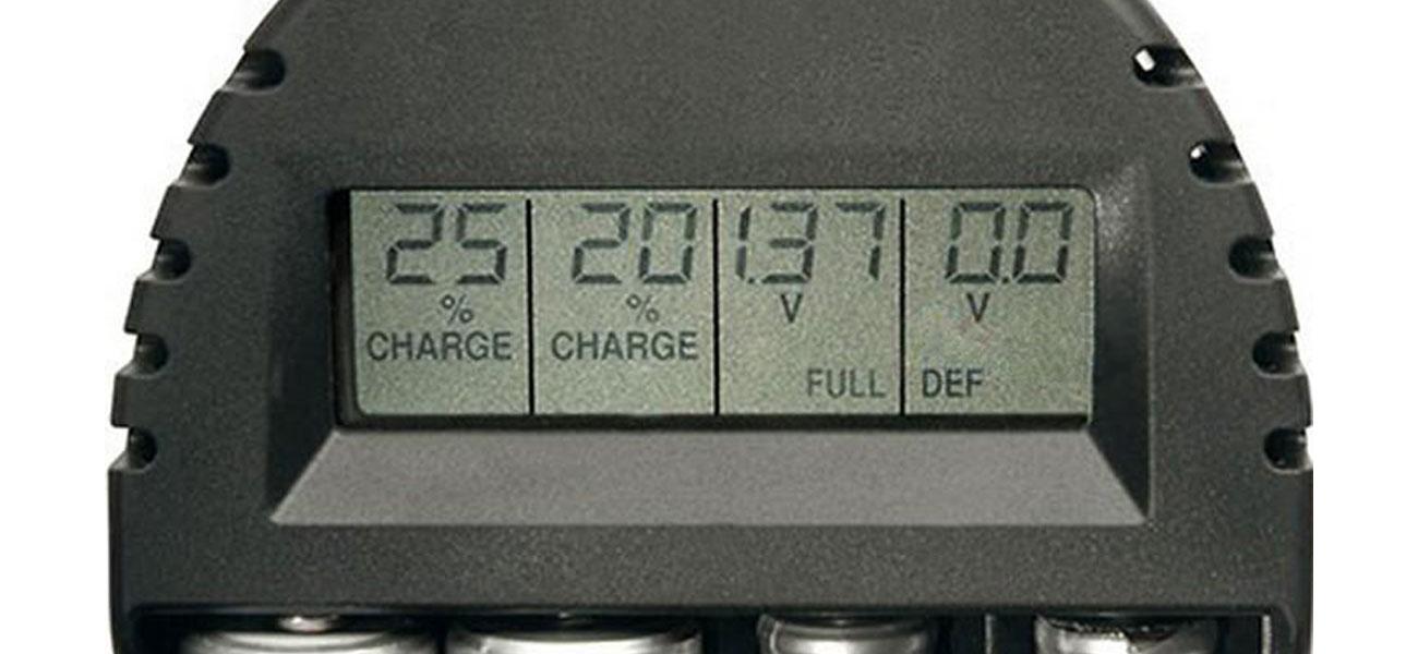 Ładowarka do akumulatorów Technoline BC-250 wyświetlacz
