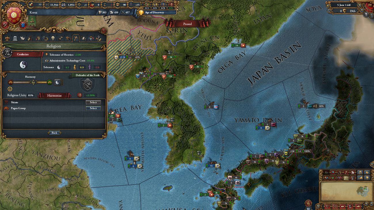 Gra PC Europa Universalis IV: Mandate of Heaven
