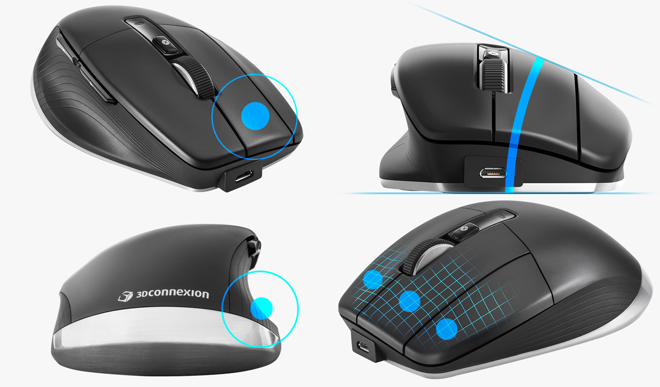 Manipulator 3Dconnexion CadMouse Pro Wireless Left