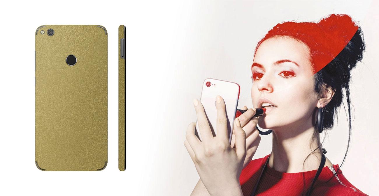 Etui/folia 3mk Ferya do Huawei P9 Lite 2017 - Glossy Gold