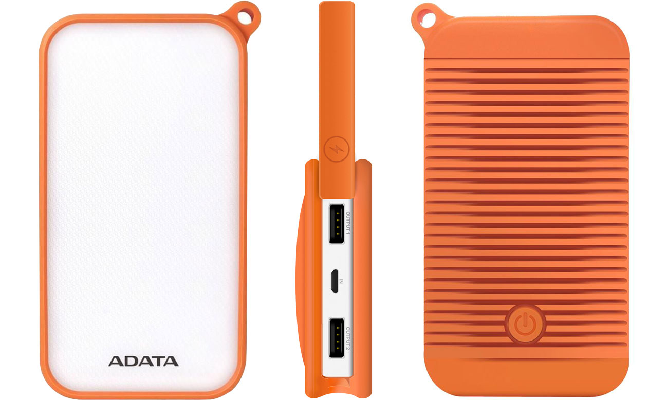 Power Bank 8000 mAh IP54 ADATA AD8000L-5V-COR