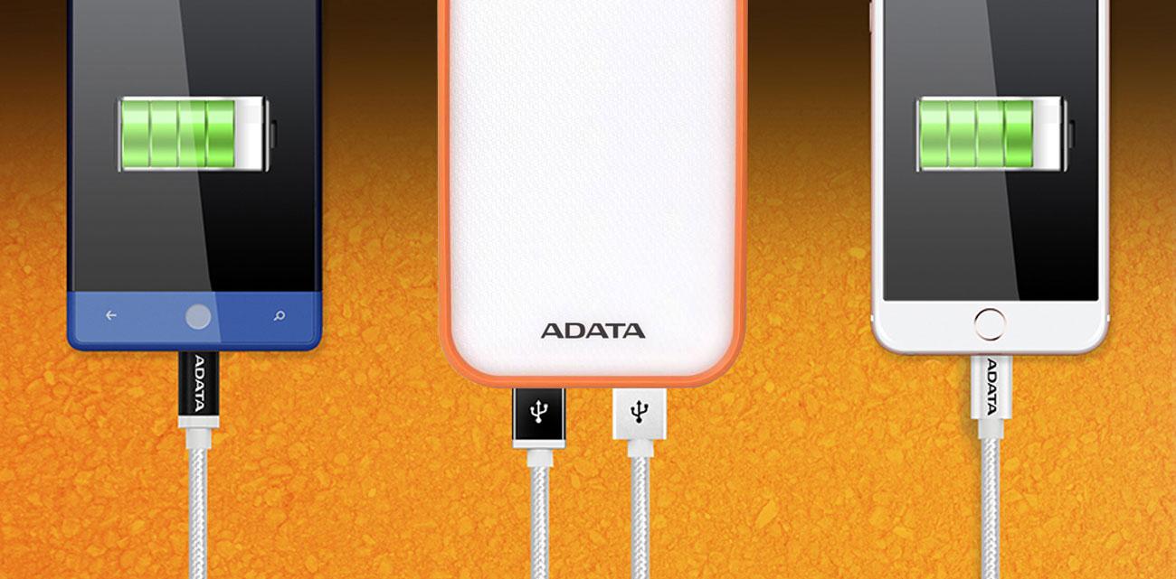 ADATA AD8000L-5V-COR dwa porty USB