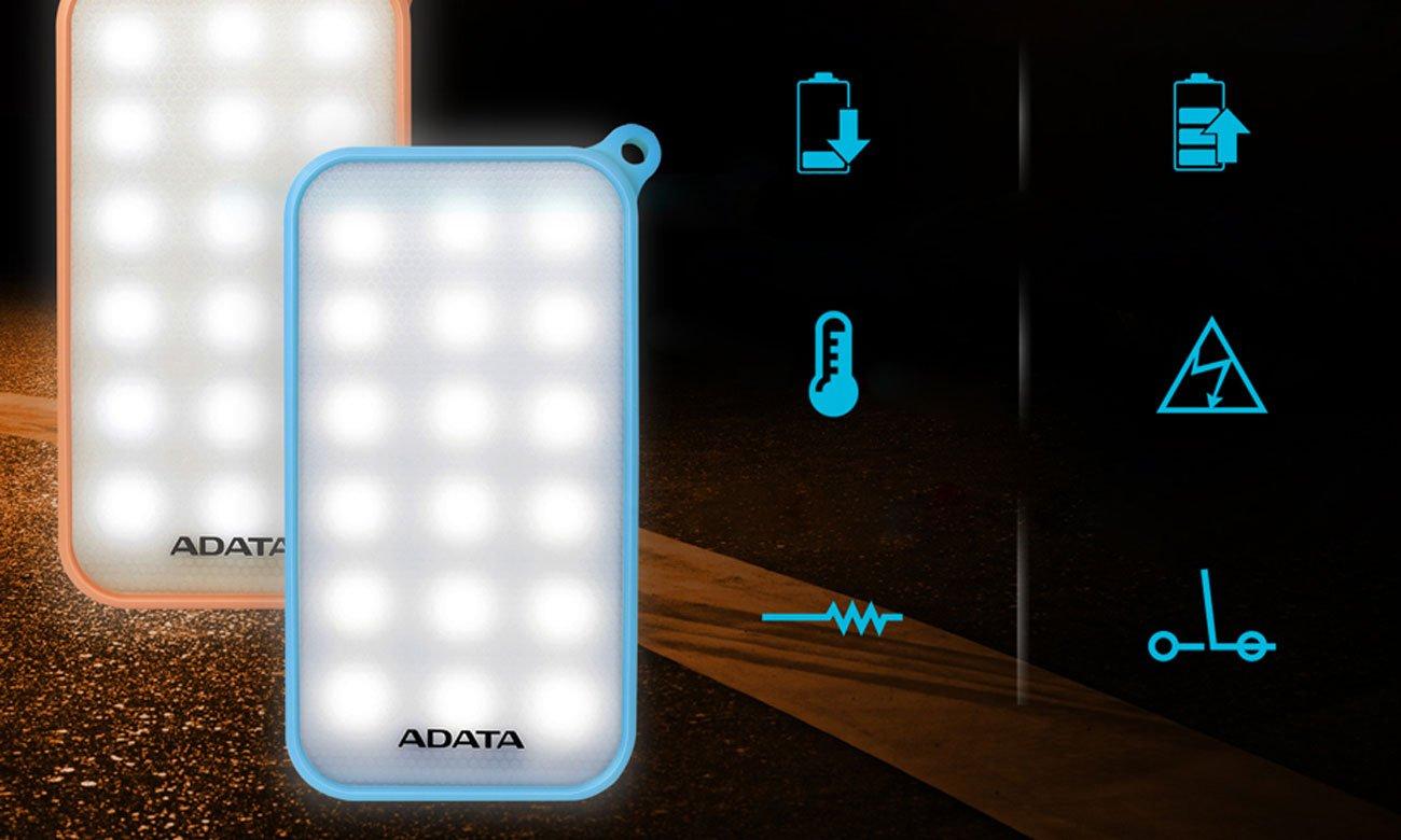 ADATA AD8000L-5V-COR zabezpieczenie