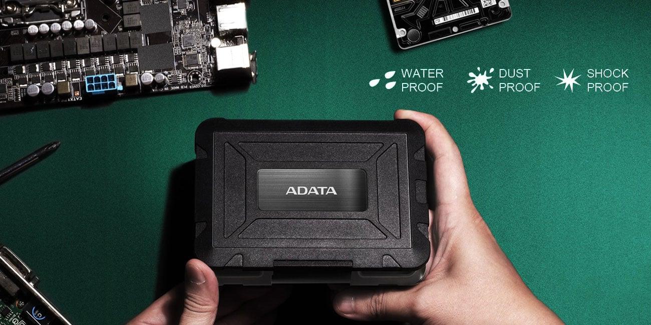 Zewnętrzna obudowa ADATA ED600 Niezwykła wytrzymałość i pewne bezpieczeństwo