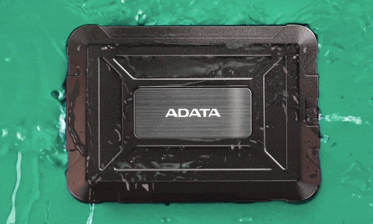 Zewnętrzna obudowa ADATA ED600 Klasa IP54 odporności na wodę i kurz
