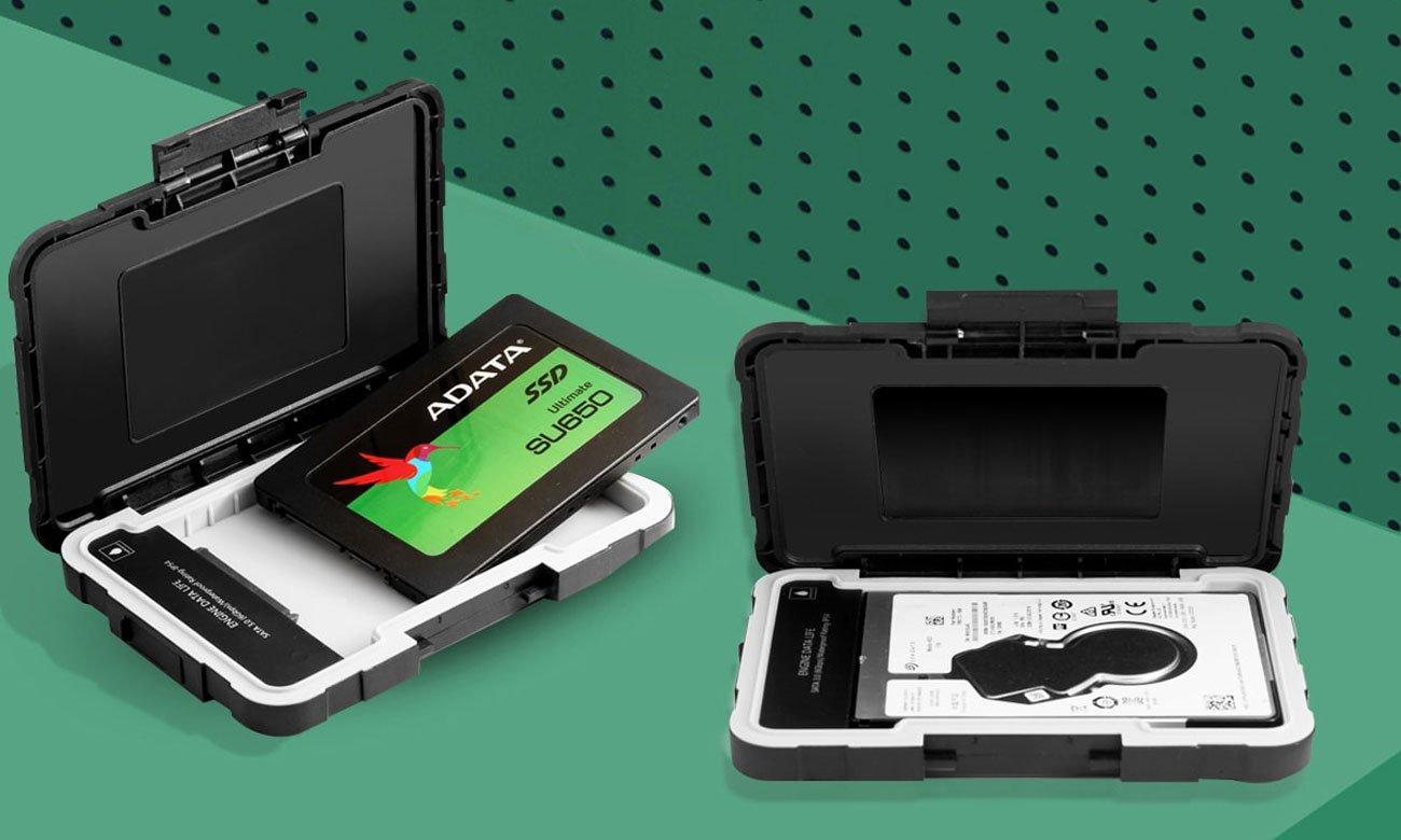 Zewnętrzna obudowa ADATA ED600 Zgodność z dyskami o wysokiej szybkości transmisji danych