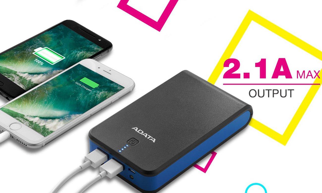 USB do 2,1 A
