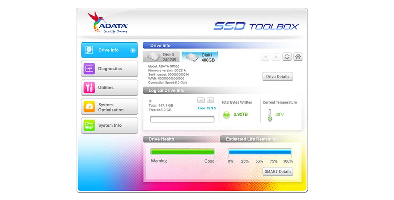 Oprogramowanie SSD Toolbox