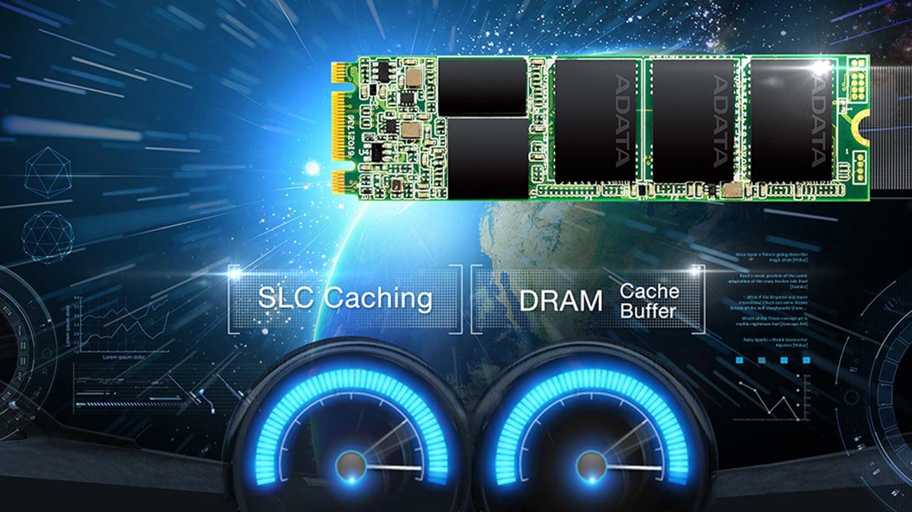 ADATA 128GB SSD Ultimate SU800 M.2 buforowanie SLC