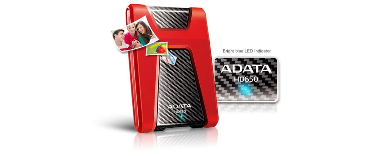 Dysk twardy zewnętrzny A-DATA HD650 USB 3.0 szybki interfejs