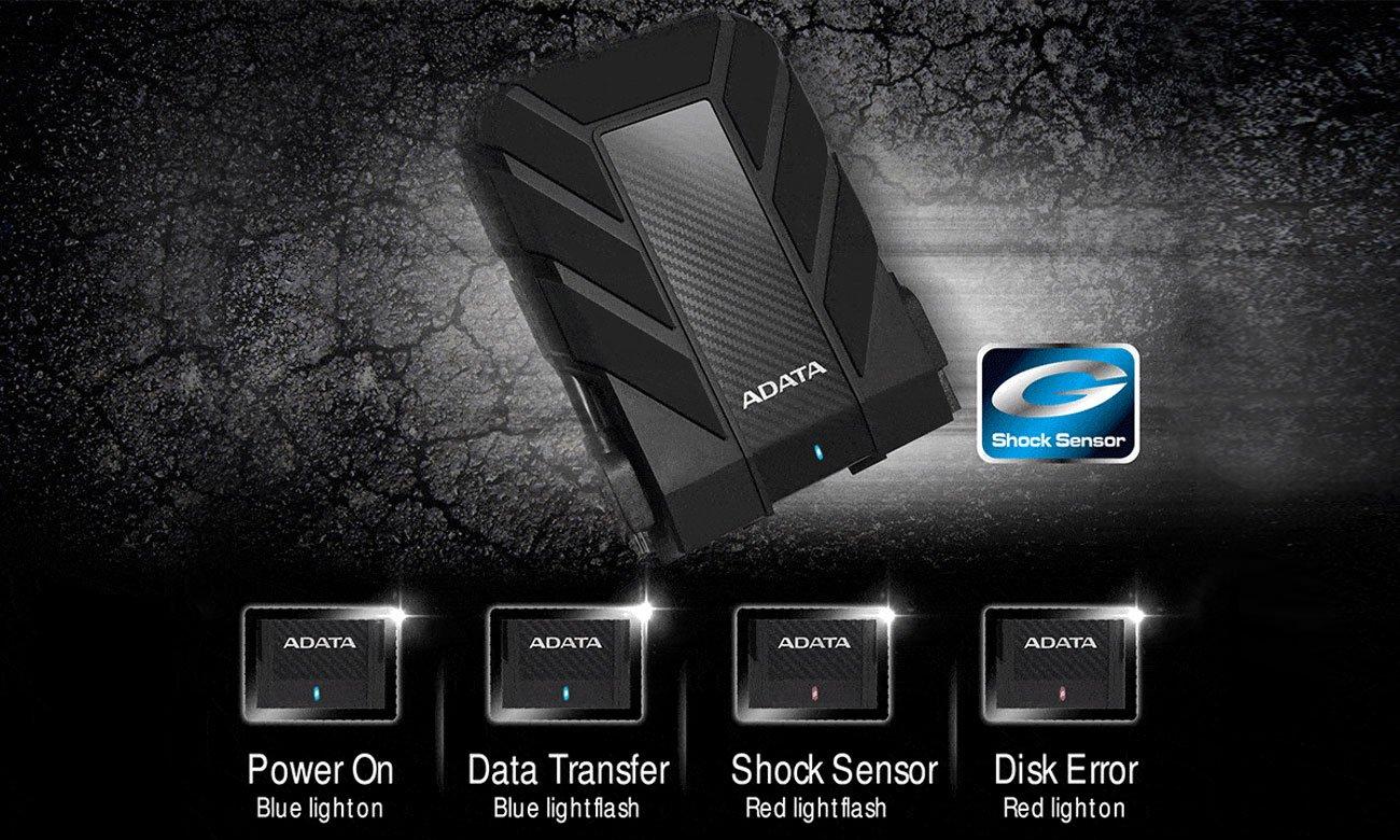 Adata HD710 Pro Technologia wykrywania wstrząsów Shock
