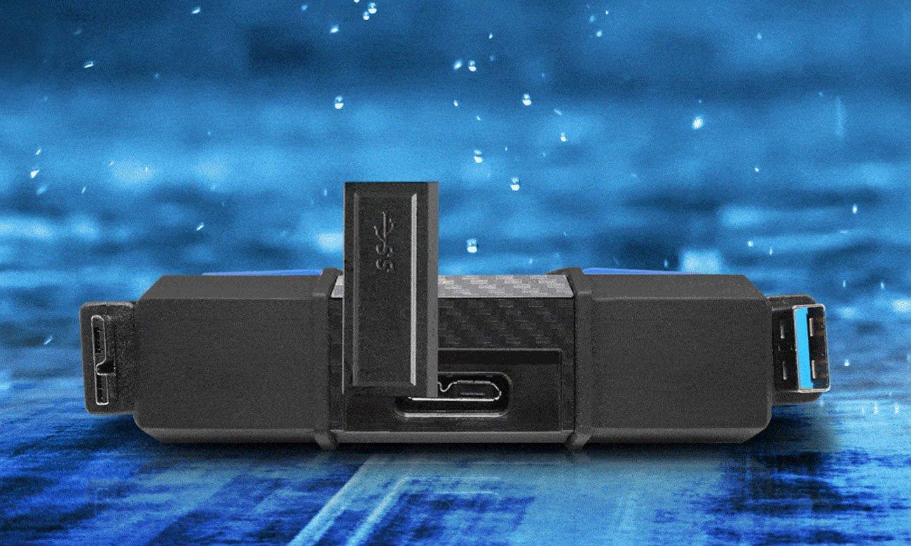 Adata HD710 Pro Ergonomiczna wodoszczelna osłona portu USB