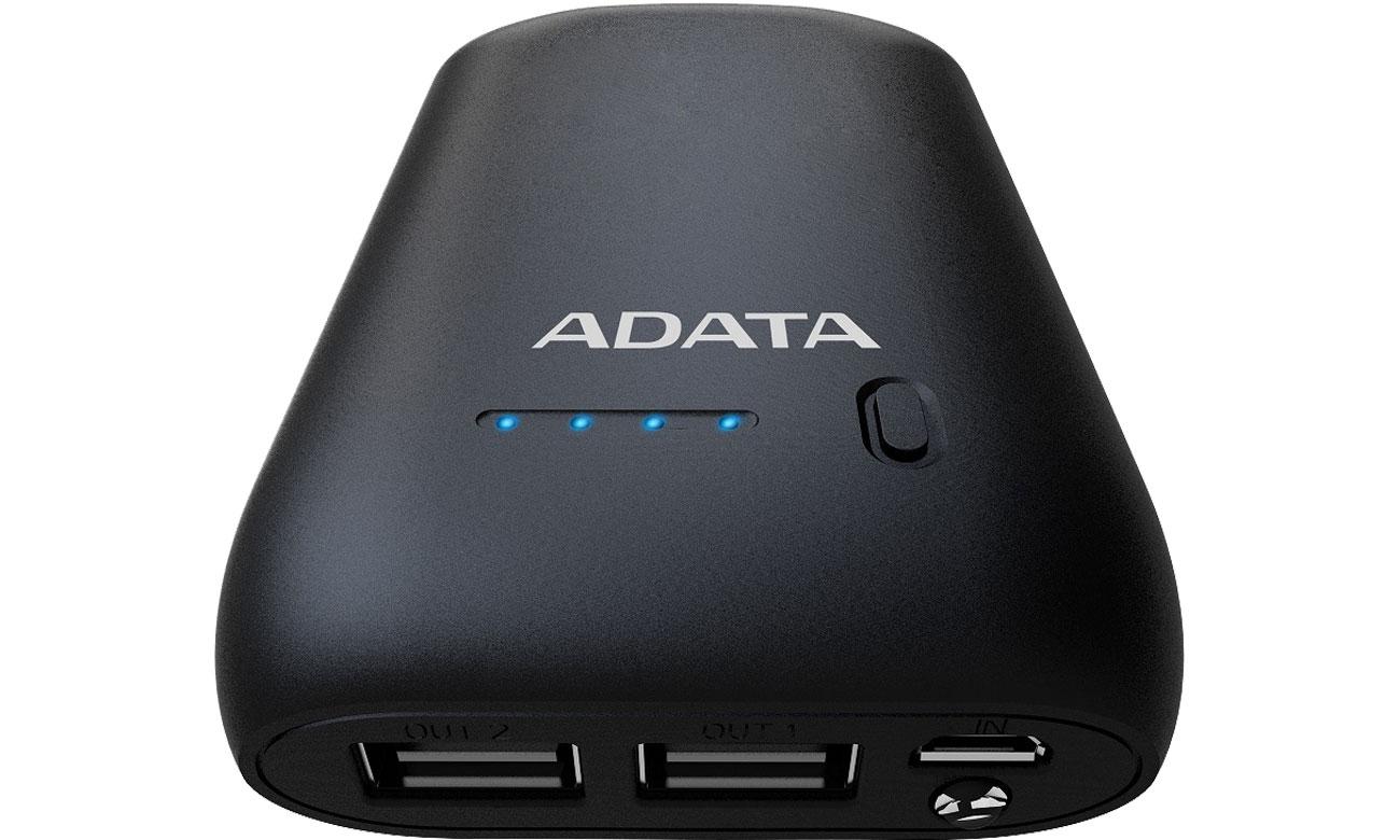 Power Bank ADATA P10050 10050 mAh 2.1 A czarny AP10050-DUSB-5V-CBK