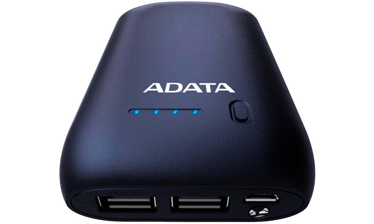 Power Bank ADATA P10050 10050 mAh 2.1 A granatowy AP10050-DUSB-5V-CDB