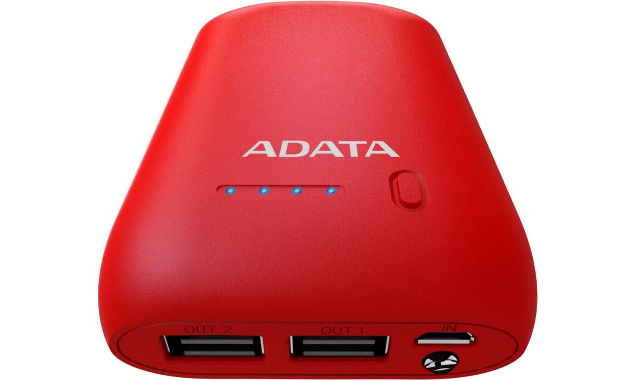 Power Bank ADATA P10050 10050 mAh 2.1 A czerwony AP10050-DUSB-5V-CRD