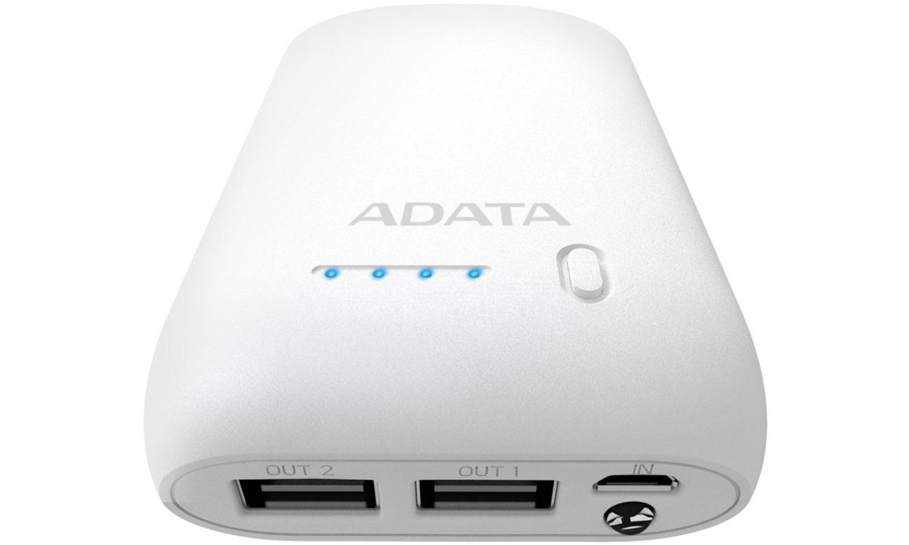 Power Bank ADATA P10050 10050 mAh 2.1 A biały AP10050-DUSB-5V-CWH