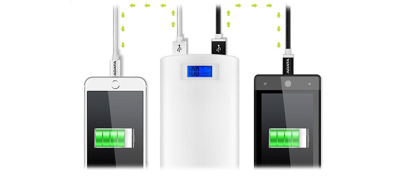 ADATA P20000D dwa porty USB