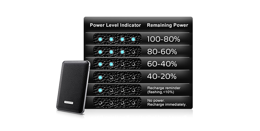 Power Bank ADATA PV120 5100mAh Czarny APV120-5100M-5V-CBK