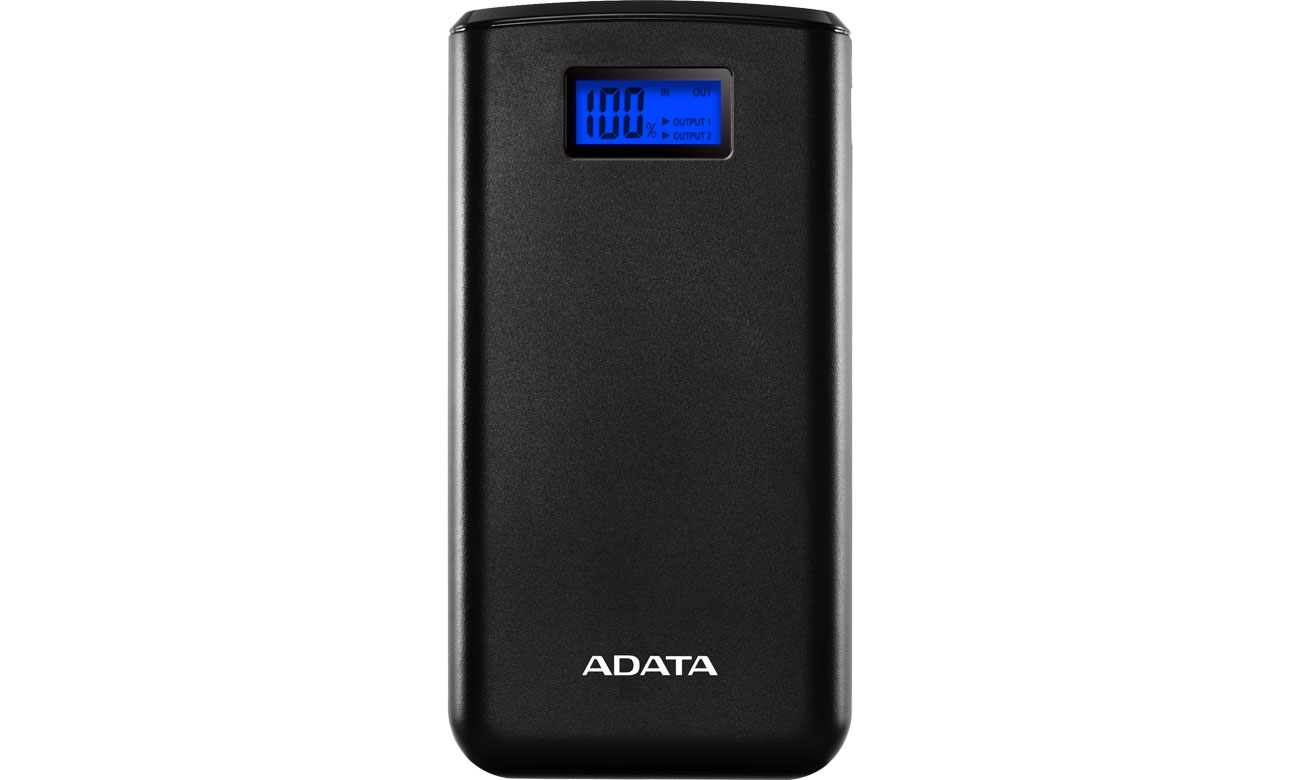 ADATA Power Bank S20000D 20000mAh (2.1A, czarny) AS20000D-DGT-CBK