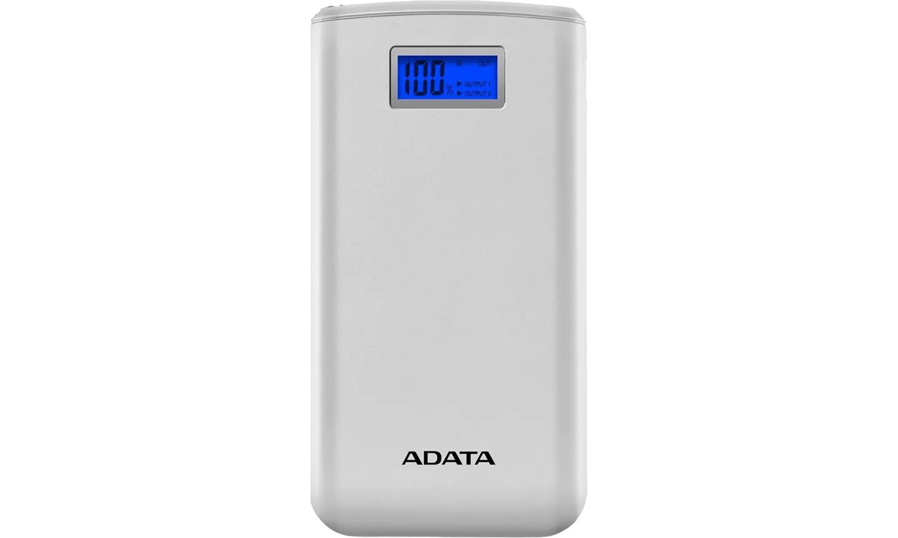 ADATA Power Bank S20000D 20000mAh (2.1A, biały) AS20000D-DGT-CWH