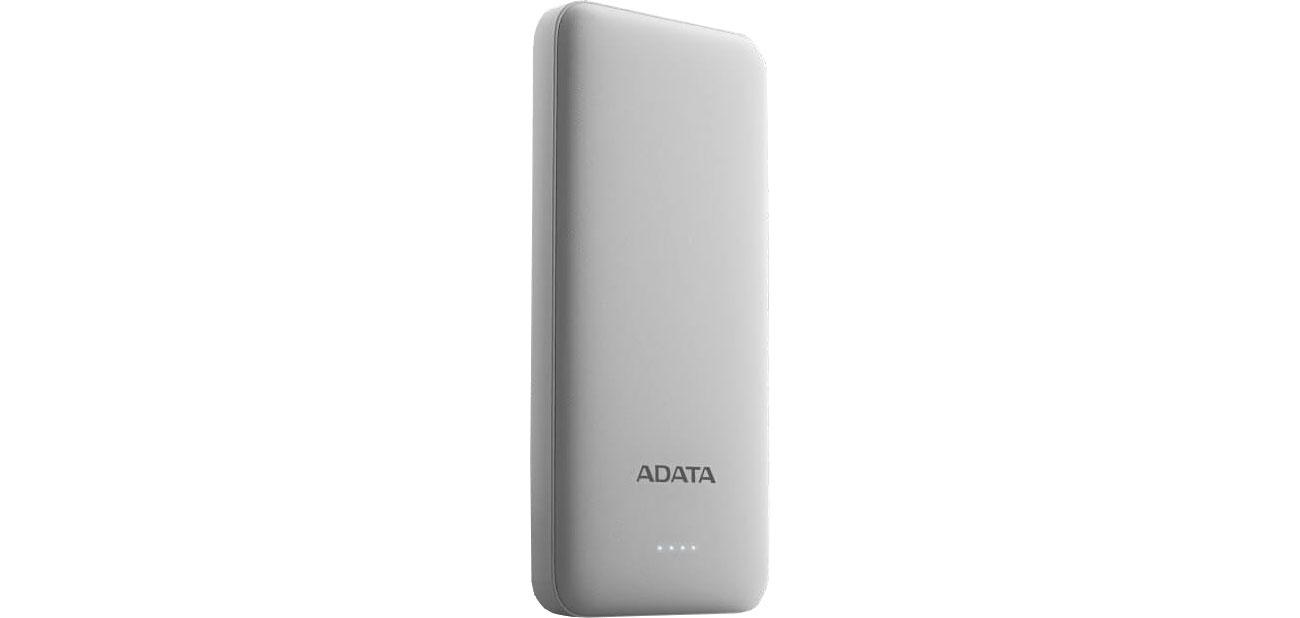 ADATA Power Bank AT10000 10000mAh (2A, biały) AT10000-USBA-CWH