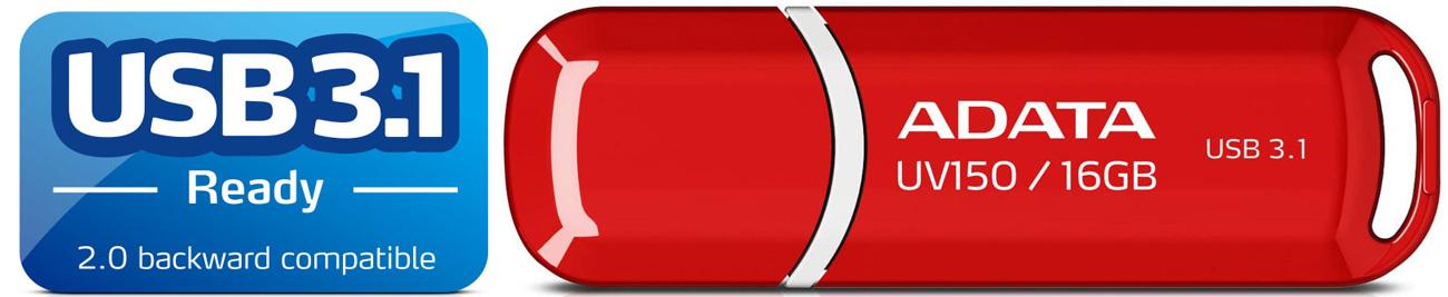 ADATA 16GB DashDrive UV150 czerwony