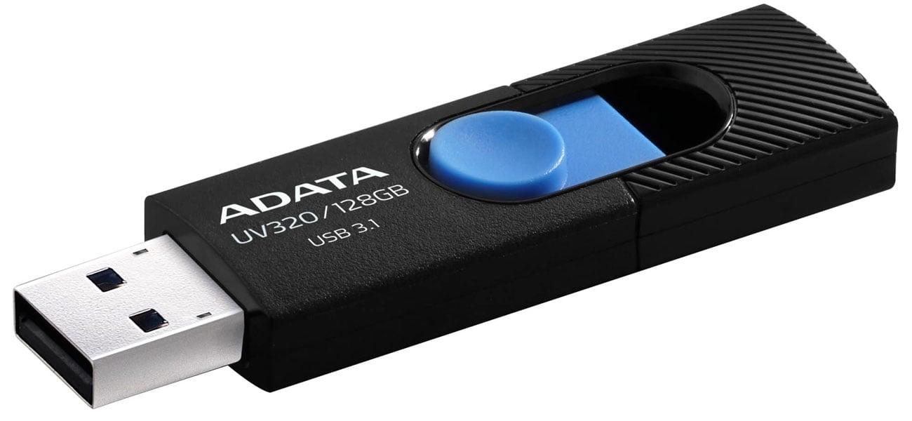 Pendrive ADATA UV320 128 GB czarno-niebieski