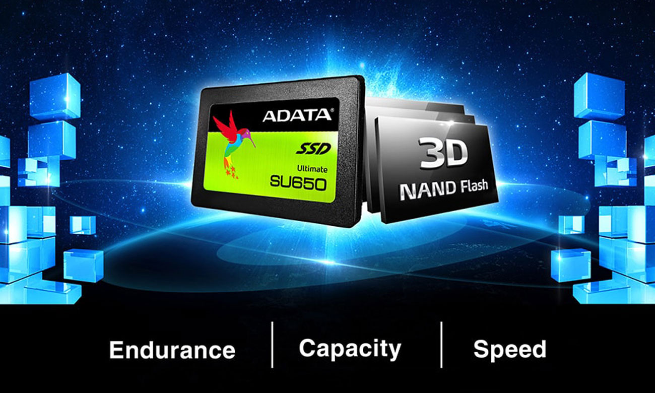 ADATA Ultimate SU650 Technologia NAND 3D