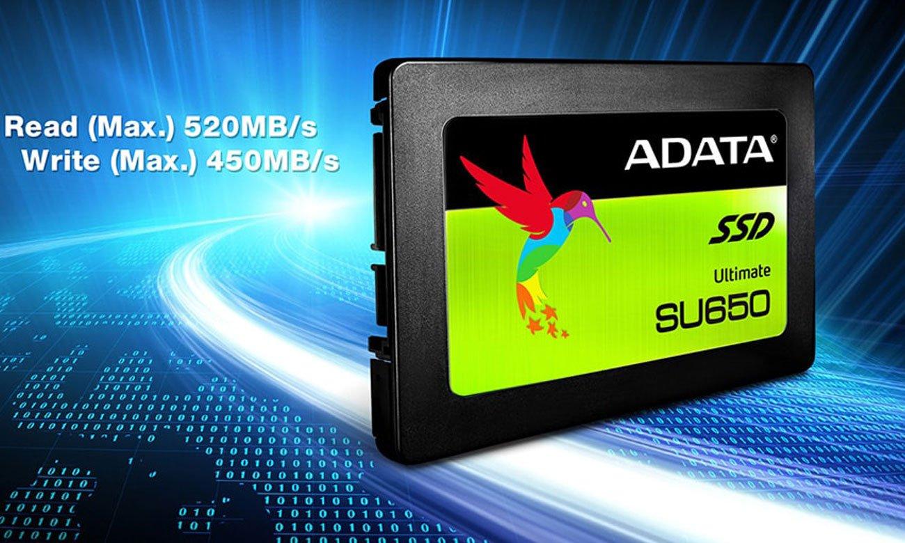 ADATA Ultimate SU650 Zaawansowany kod korekty błędu