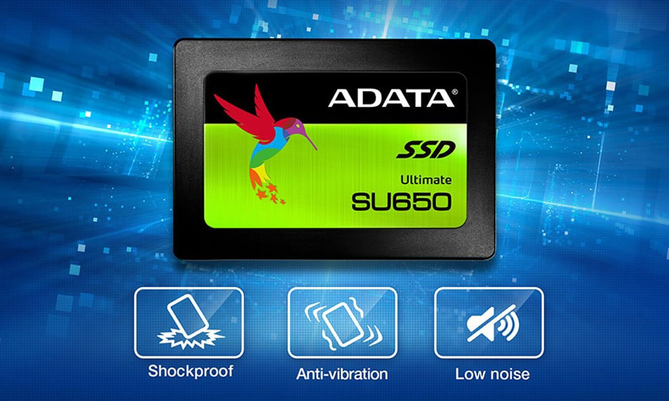 ADATA Ultimate SU650 Bardziej wytrzymały, cichszy i niezawodny