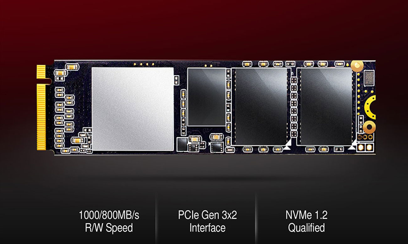 ADATA XPG SX6000 PCIe Gen3x2 M.2 2280 Czas na ultra szybkie złącze PCIe