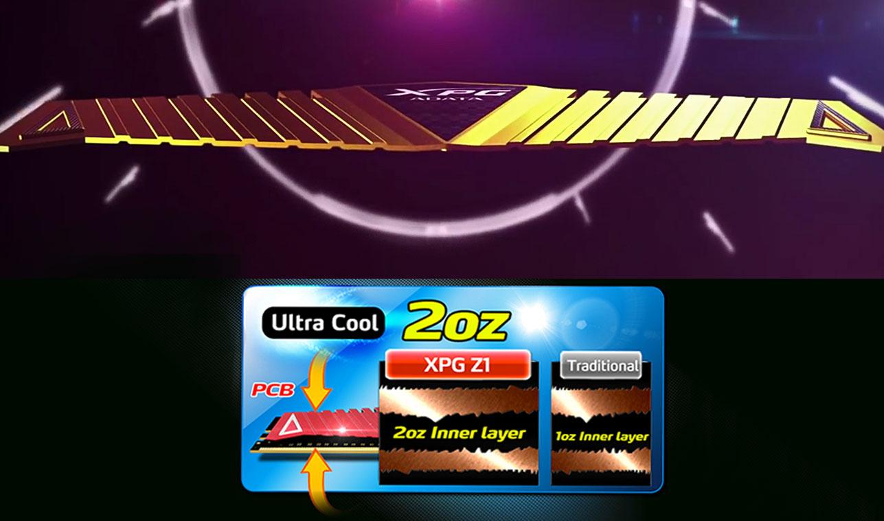 ADATA XPG Gaming Z1 Doskonałe chłodzenie Stabilny transfer danych