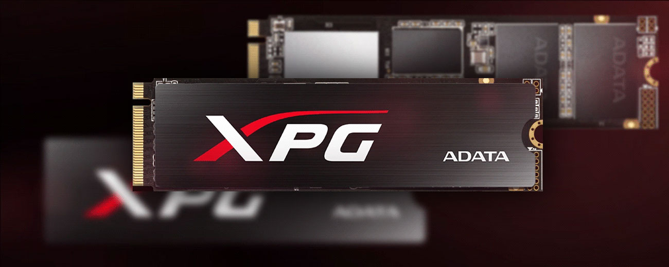 Dysk SSD XPG SX8200 PCIe Gen3x4 M.2 2280 W komplecie radiator chłodzący XPG