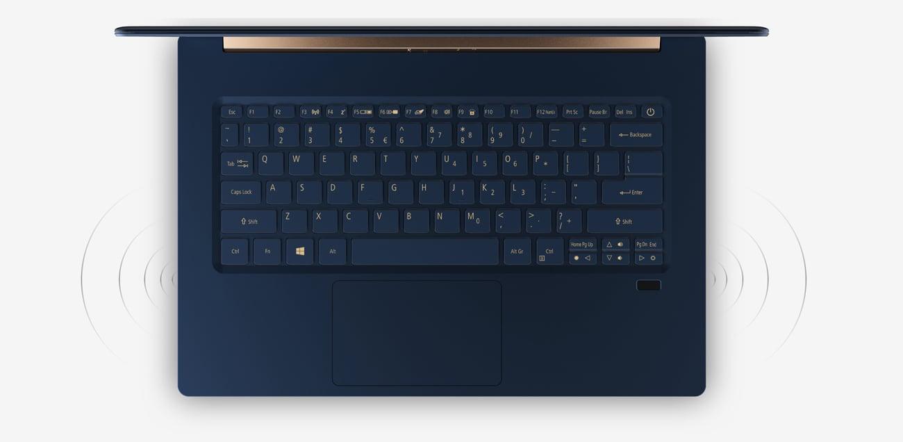Acer Swift 5 Pro wciągający dźwięk