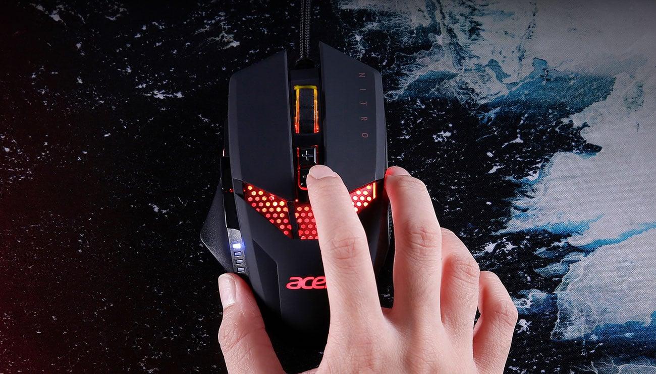 Mysz Gamingowa Acer Nitro Podswietlenie