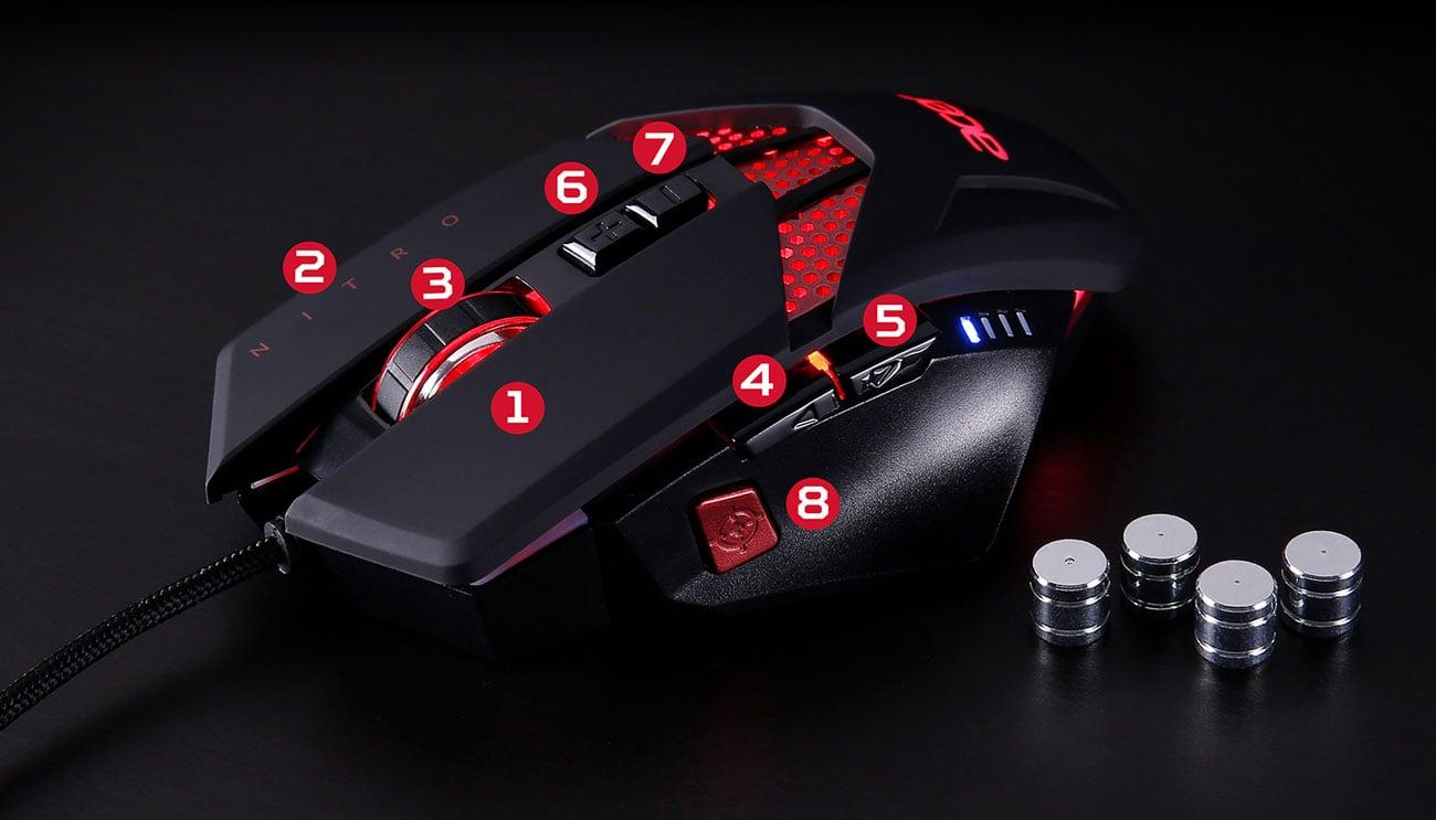 Mysz Gamingowa Acer Nitro Personalizacja
