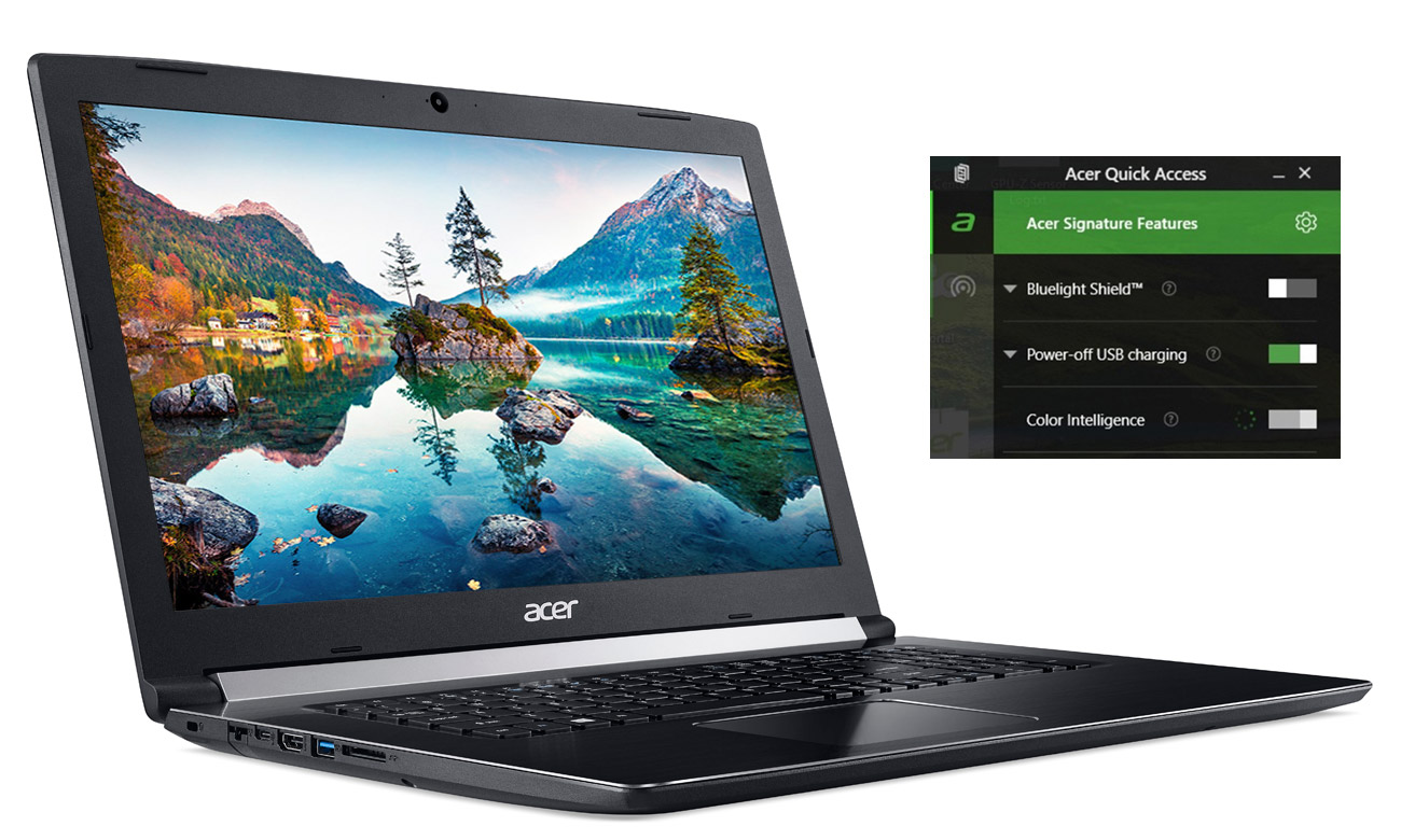 Acer Aspire 5 Technologie Acer Color Intelligence, Acer BluelightShield