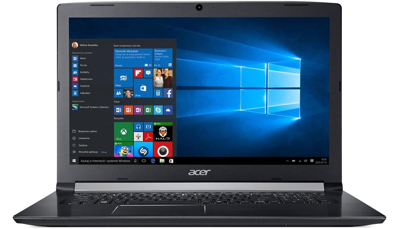 Acer Aspire 5 Kaz układem graficznym intel HD graphics 620