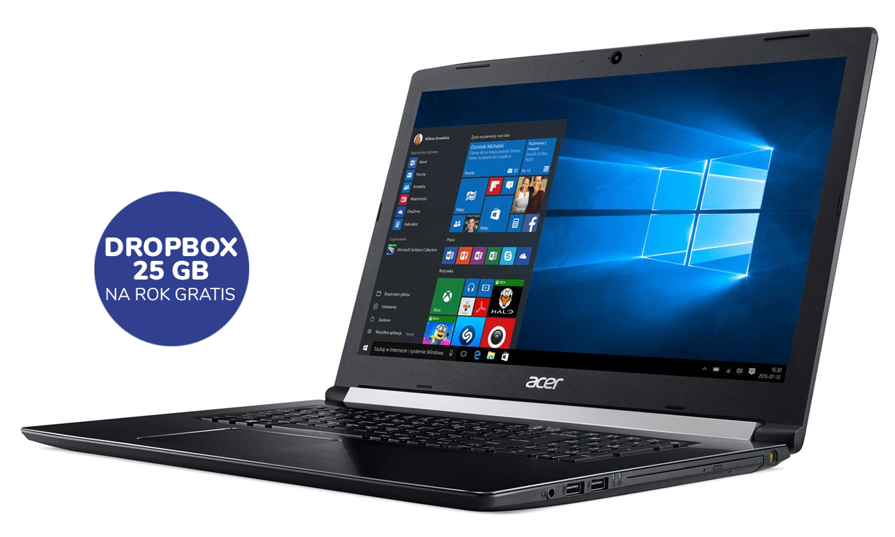 Acer Aspire 5 25GB Dropbox