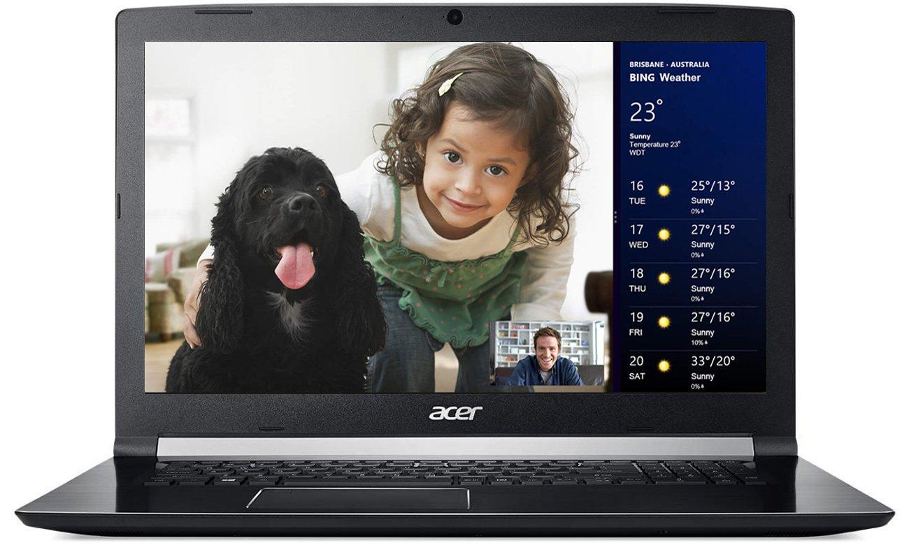 Acer Aspire 7 wbudowana kamera z certyfikatem Skype for business